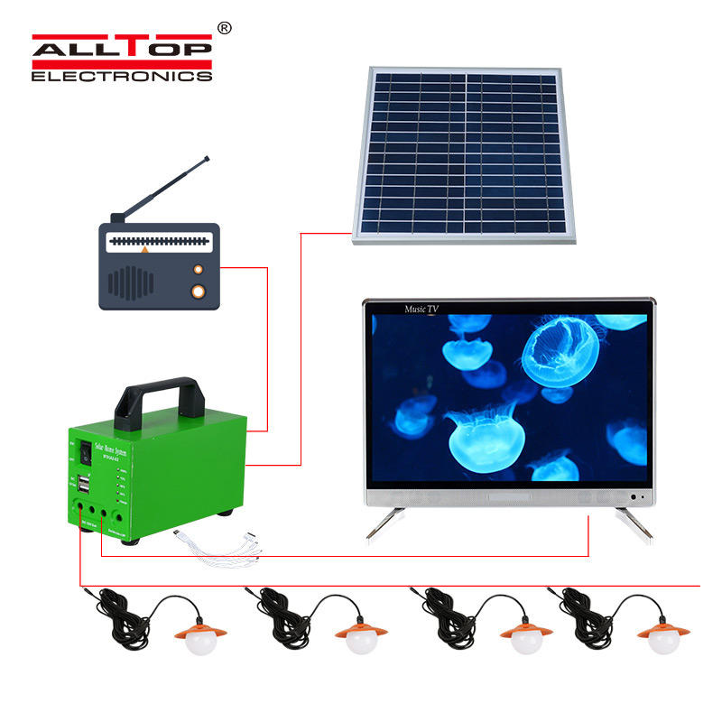 ALLTOP -Solar Lighting System Solar Energy Powered 10w Solar System