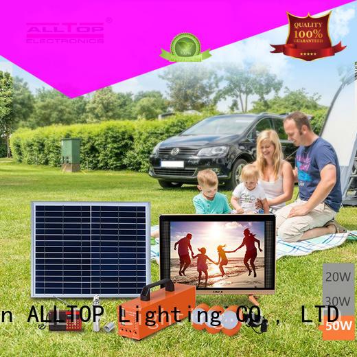 system solar led lighting system panel for home ALLTOP