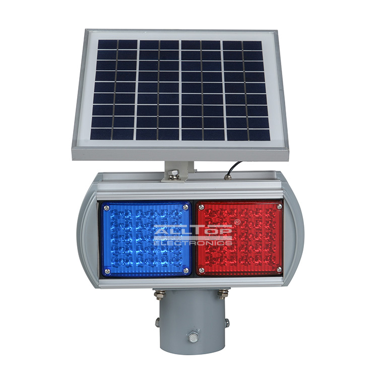 ALLTOP -Hight Quality Solar Power Led Flashing Light Warning Traffic Light