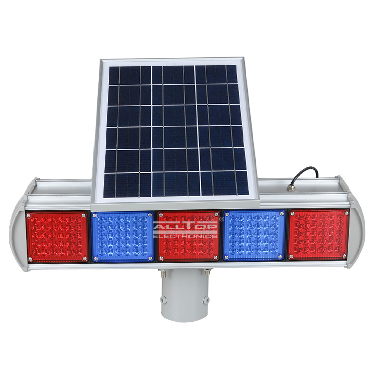ALLTOP -Hight Quality Solar Power Led Flashing Light Warning Traffic Light-3