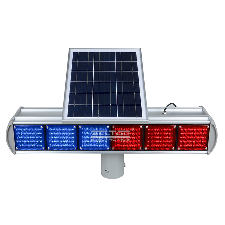 ALLTOP -Hight Quality Solar Power Led Flashing Light Warning Traffic Light-4