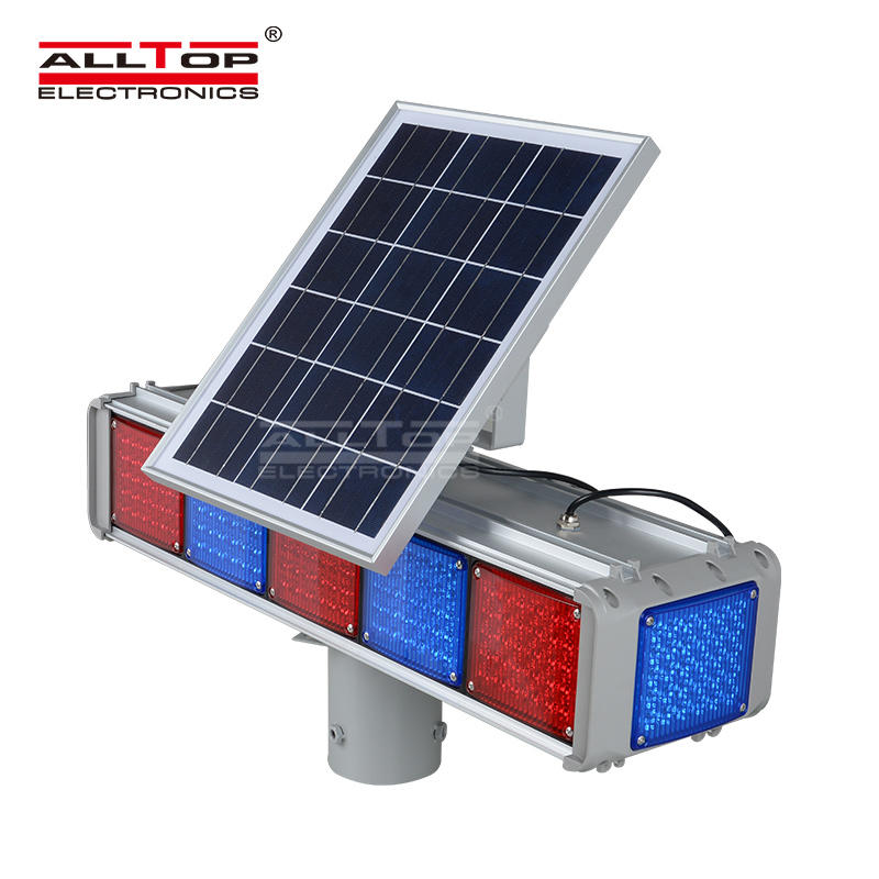 Hight quality Solar power Led flashing light Warning traffic Light price