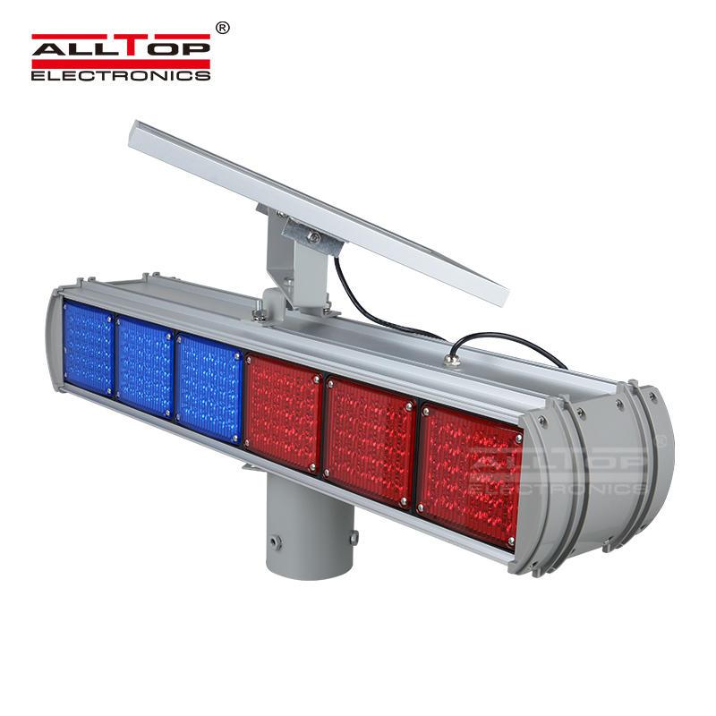 Hight quality Solar power Led flashing light Warning traffic Light price