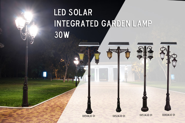 energy saving solar pillar lights supply for decoration-5