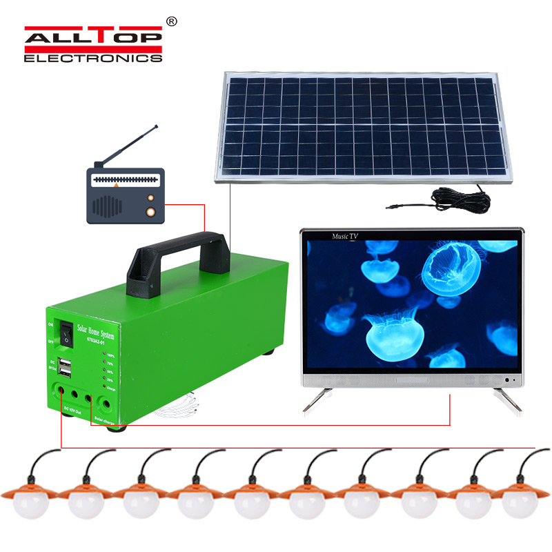 ALLTOP -Solar Lighting System Solar Energy Powered 10w Solar System-3