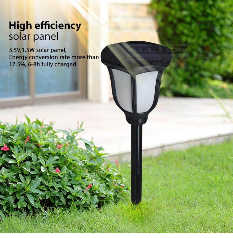 ALLTOP -Solar Garden Lamps Energy Saving Waterproof Ip65 Garden 2watt Solar Led-8