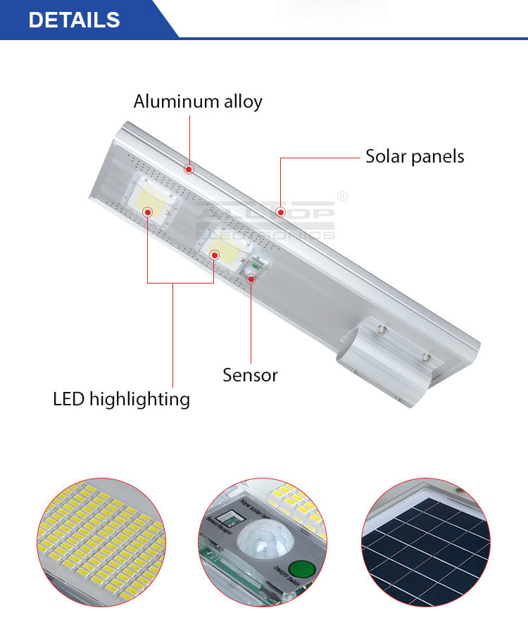 sensor all in one solar street lights motion for road ALLTOP