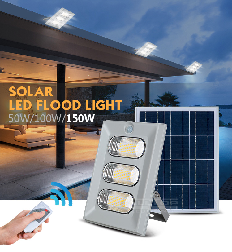 ALLTOP -High Brightness Energy Saving Outdoor Abs Ip65 50w 100w 150w Solar Led