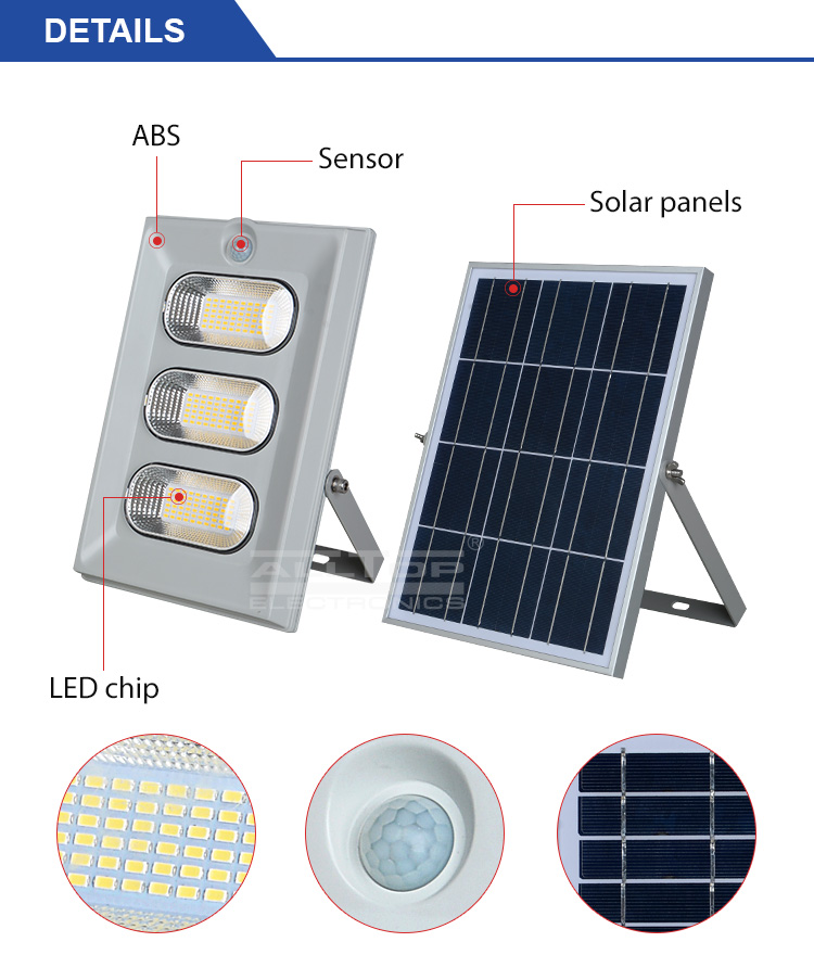 ALLTOP -High Brightness Energy Saving Outdoor Abs Ip65 50w 100w 150w Solar Led-7