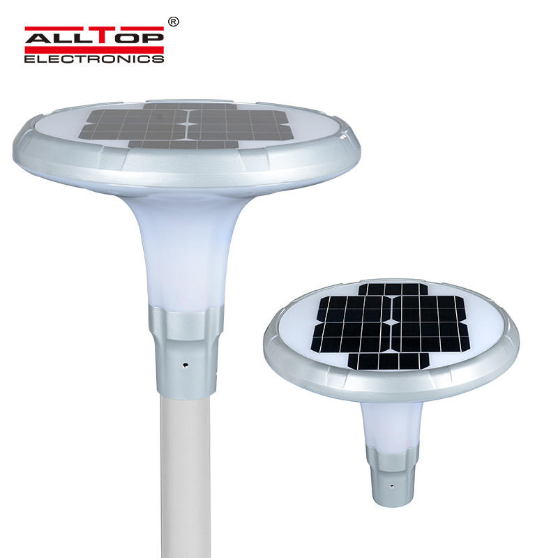 ALLTOP High Lumen Solar LED Garden Pillar Lamp Outdoor Solar Yard Landscape Light