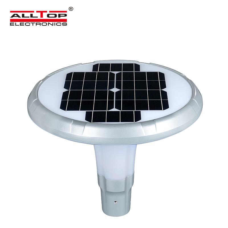 ALLTOP High Lumen Solar LED Garden Pillar Lamp Outdoor Solar Yard Landscape Light