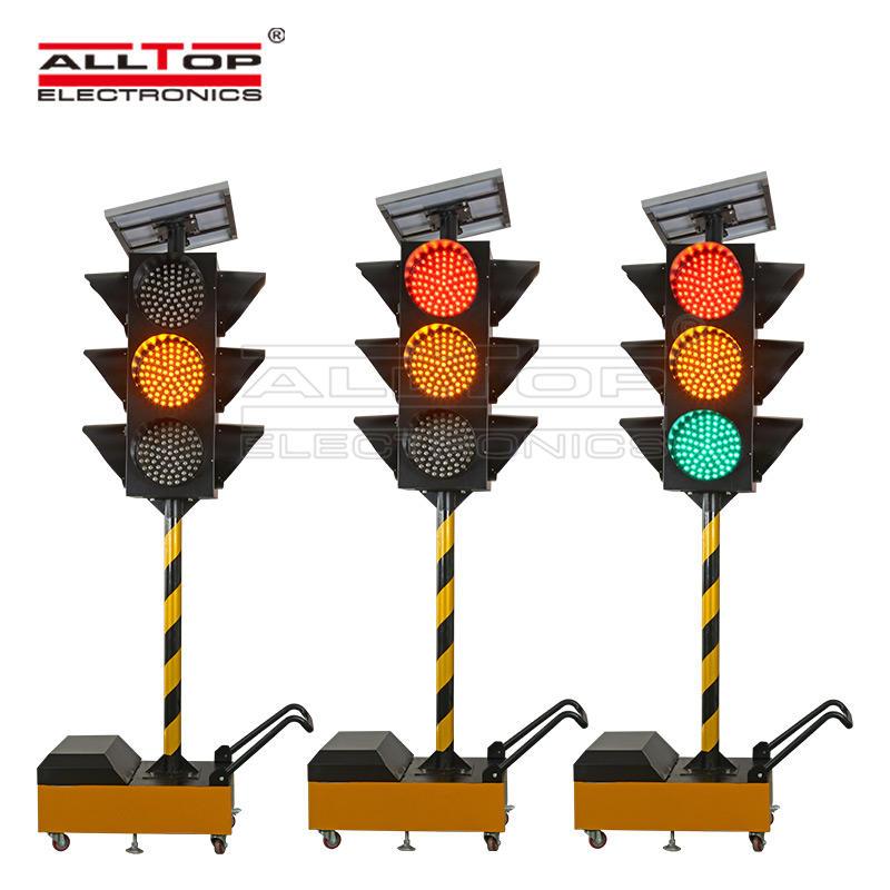 Traffic flash light mobile Intelligent solar traffic light solar safety warning light