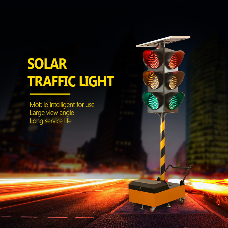 Traffic flash light mobile Intelligent solar traffic light solar safety warning light-2