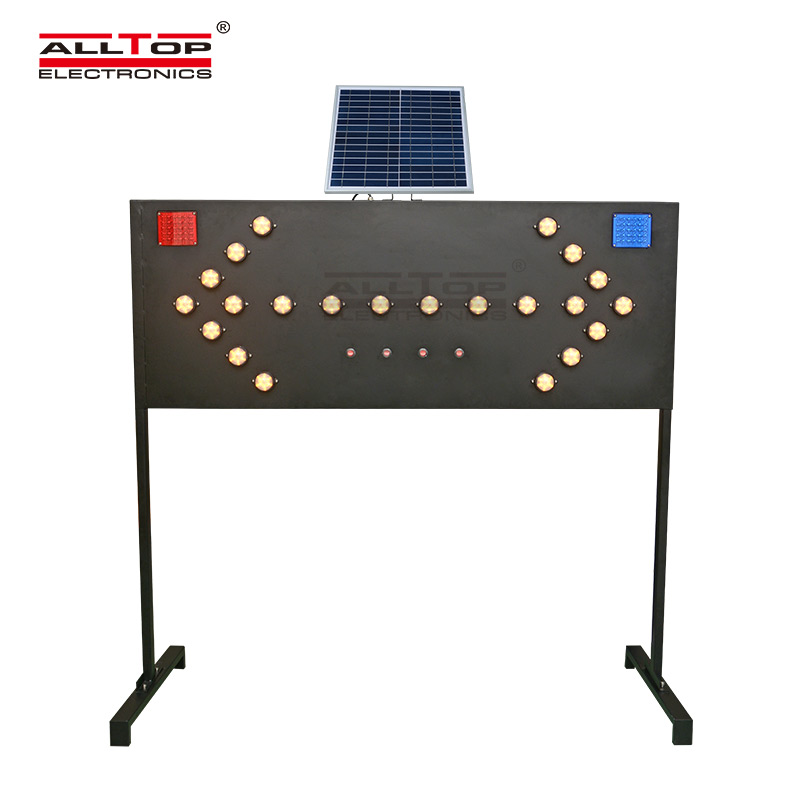 ALLTOP -Solar Traffic Light | Alltop Solar Road Safety Signs Board Traffic Guide
