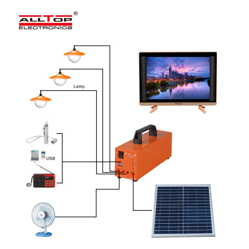 system solar led lighting system panel for home ALLTOP