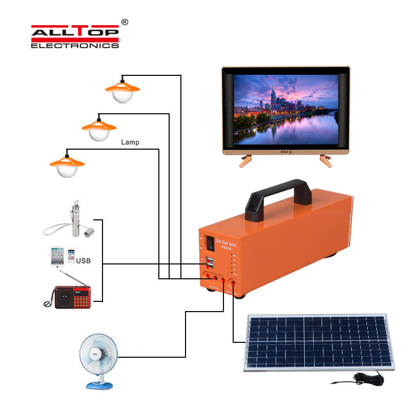 ALLTOP solar dc home lighting system directly sale for battery backup