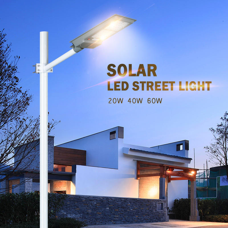 ALLTOP Energy saving high lumen integrated motion sensor  20W 40W 60W all in one solar led street light