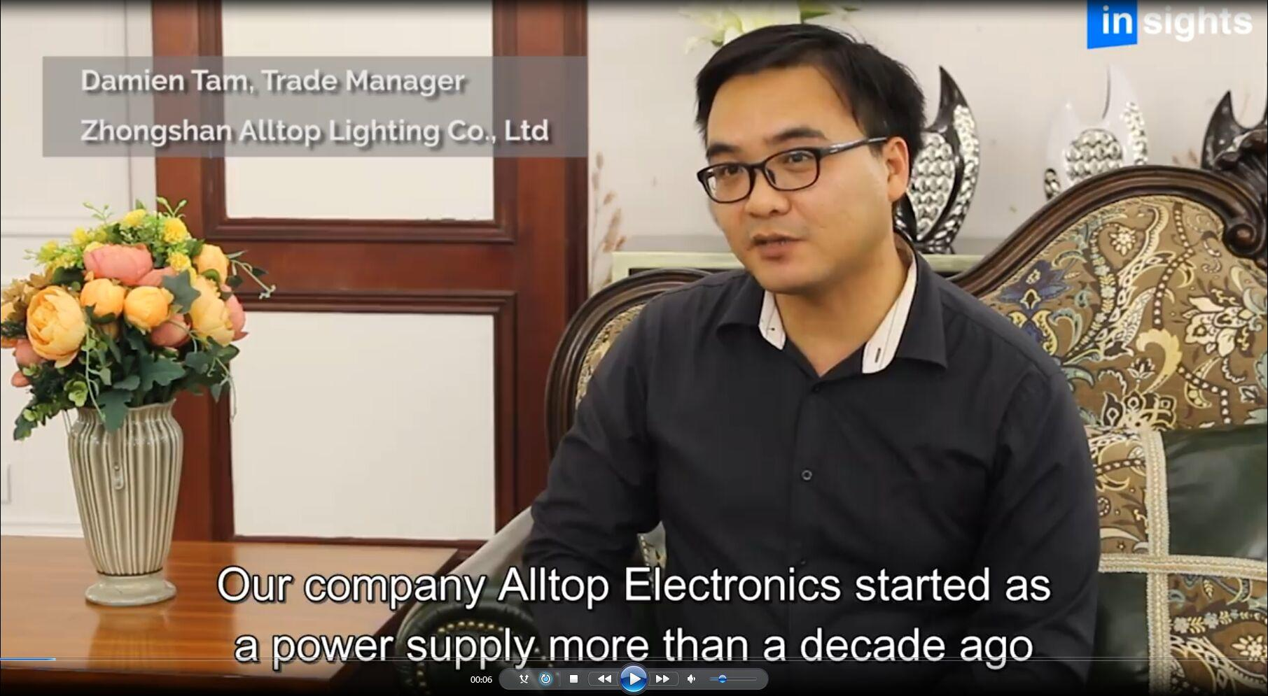 Zhongshan ALLTOP Lighting CO.,LTD.  was invited to do news interviews on LED Lighting