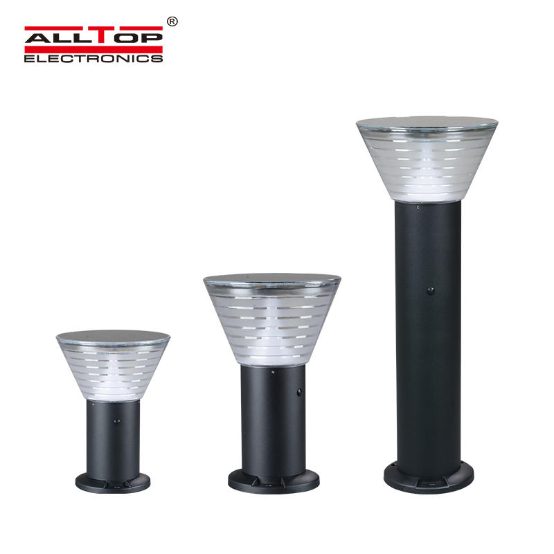 ALLTOP 5watt waterproof ip65 outdoor all in one solar led garden lamp light price