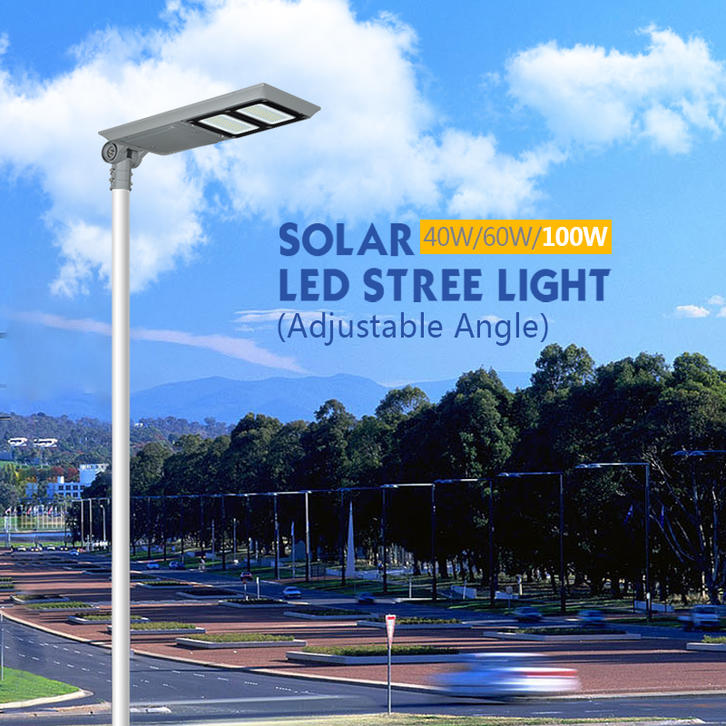 ALLTOP Automatic ip65  40w 60w 100w all in one solar led street light