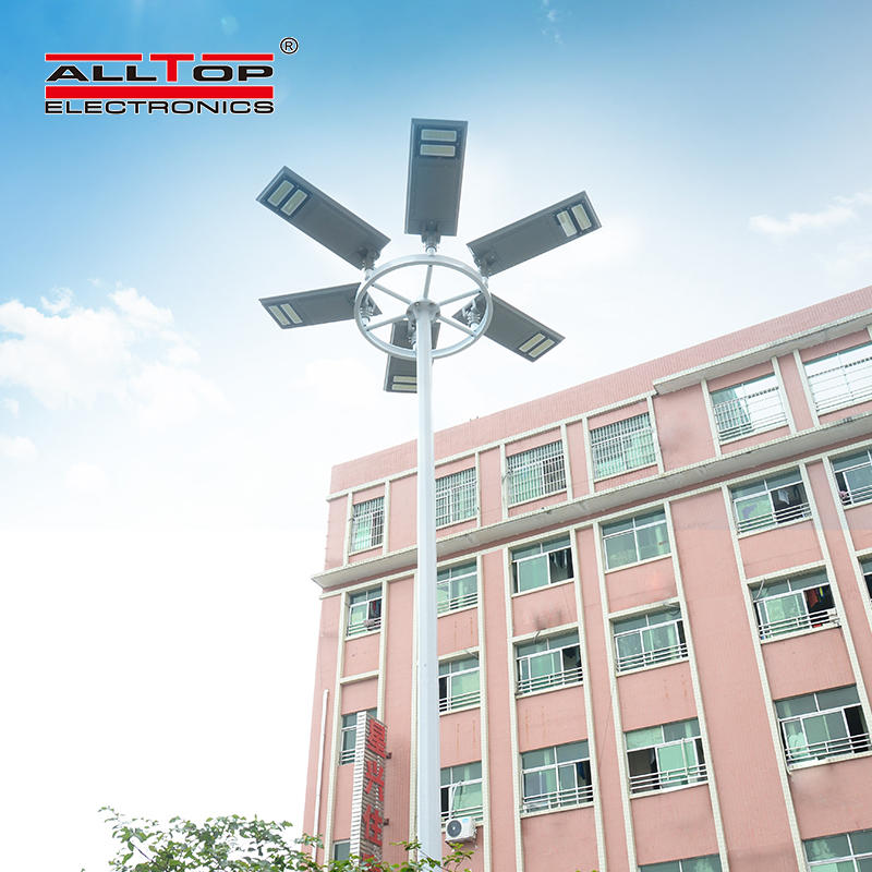 ALLTOP High quality brightness 30 60 100 watt all in one solar led street light