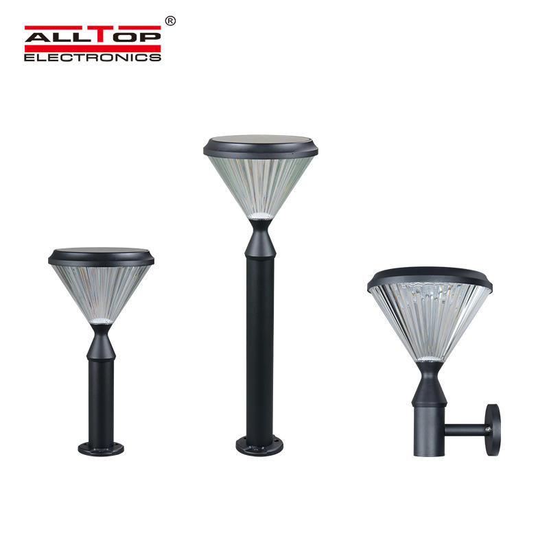 High quality fancy main solar gate post pillar light