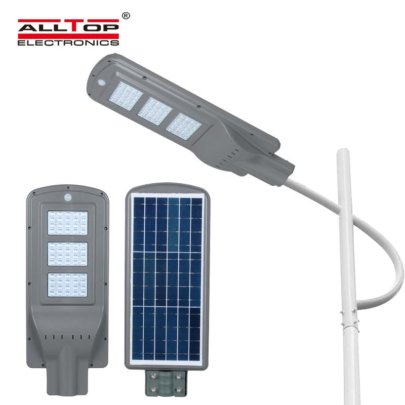 ALLTOP -Outdoor ip65 waterproof garden adjust 20W 40W 60w all in one led solar street light