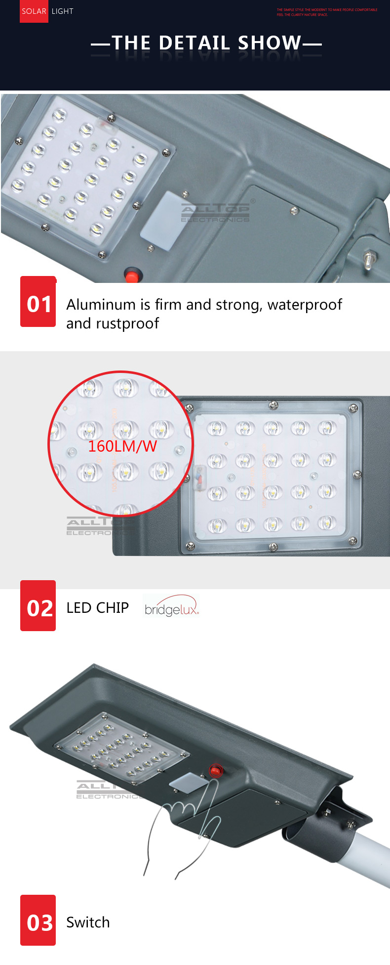 ALLTOP -Find Solar Led Lights Integrated Solar Street Light Price-7