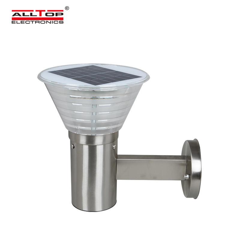 High lumen 5w stainless steel outdoor solar led wall light