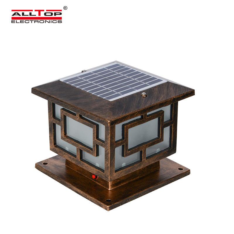 Modern Garden IP65 outdoor waterproof 3w 4w solar led pillar light