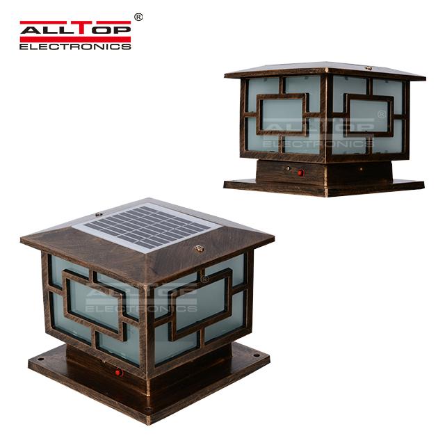 ALLTOP -Modern Garden IP65 outdoor waterproof 3w 4w solar led pillar light