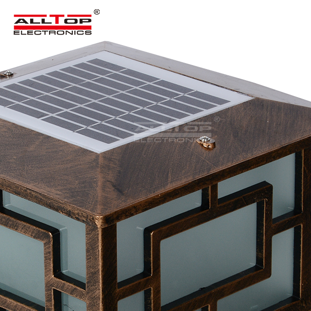 ALLTOP -Modern Garden IP65 outdoor waterproof 3w 4w solar led pillar light-1