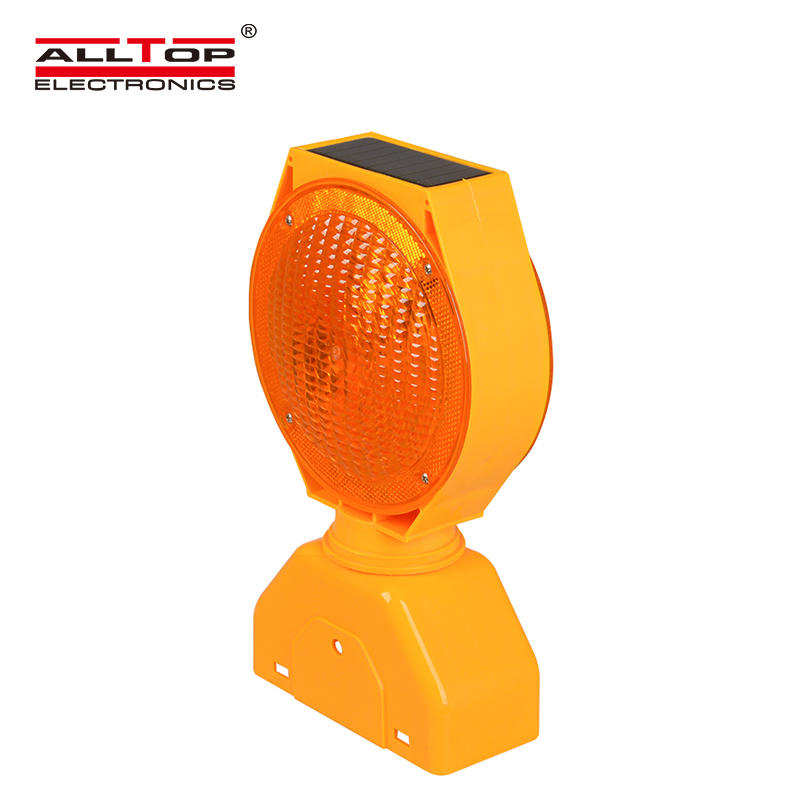 Portable 0.6W Double Sided Barricade signal Solar led Warning light