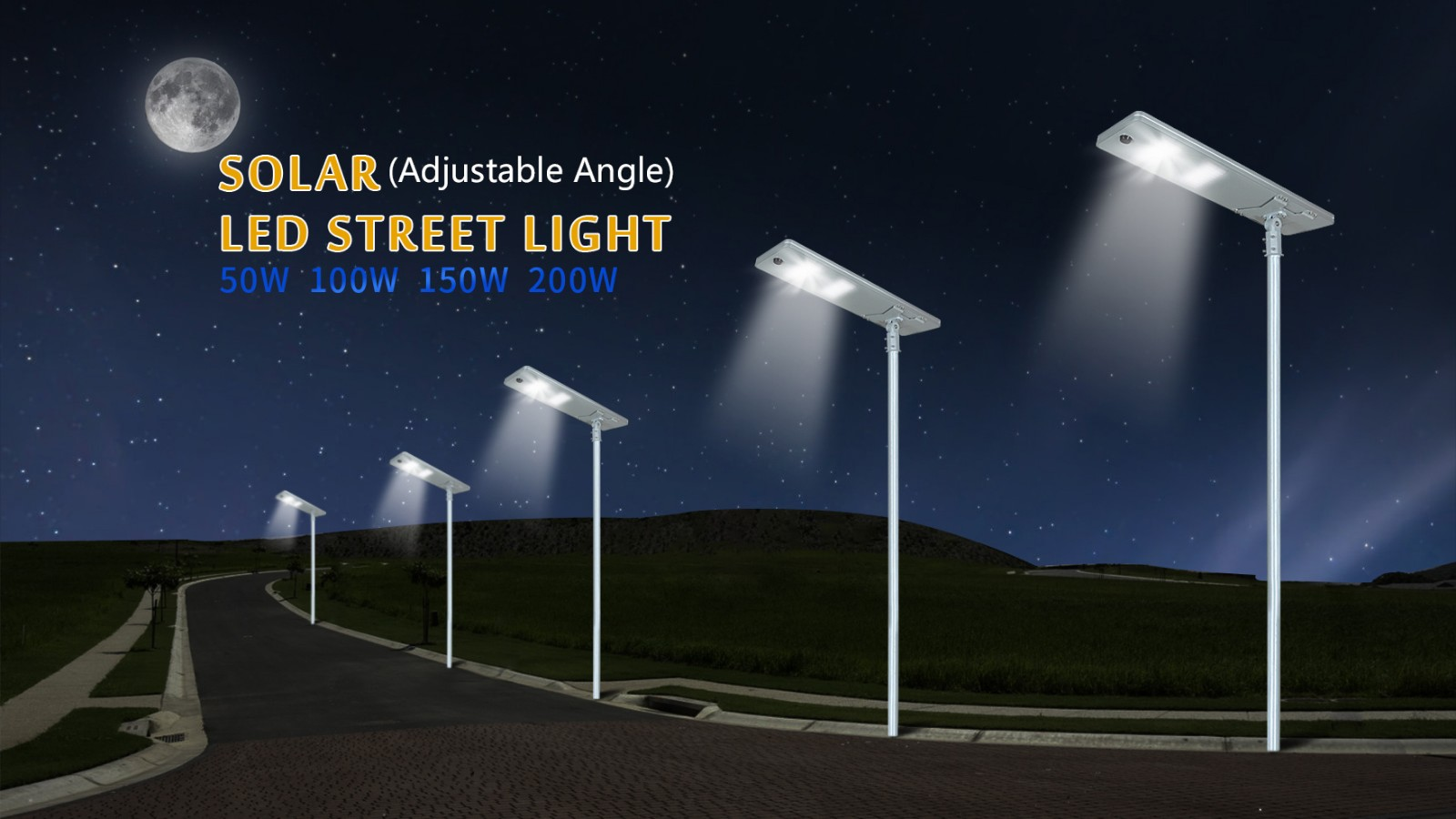 waterproof solar pole lights series for highway-5