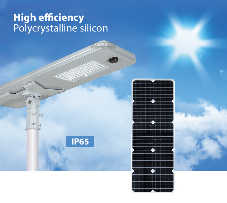 ALLTOP 50W 100W 150W 200W IP65 outdoor integrated motion sensor all in one solar led street light-5