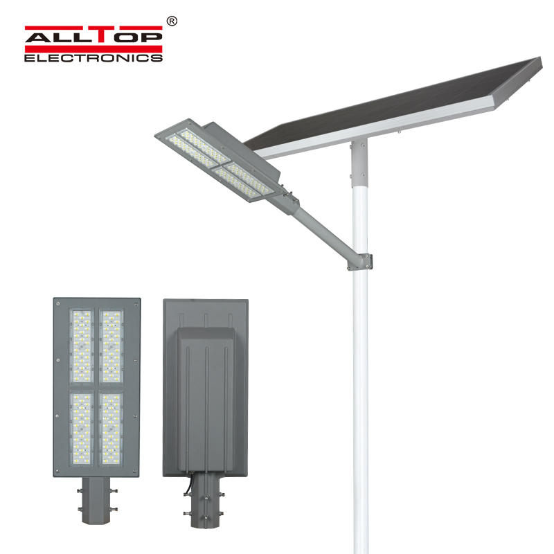 Intelligent aluminum alloy case waterproof 180W solar street light