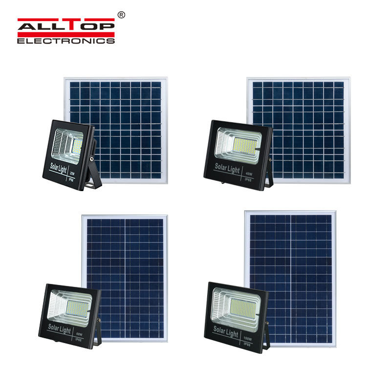 High lumen outdoor Ip65 25W 0W 60W 150W slim solar LED flood light