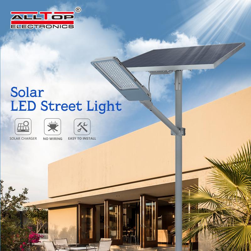 ALLTOP -Intelligent aluminum alloy case waterproof solar street light-1