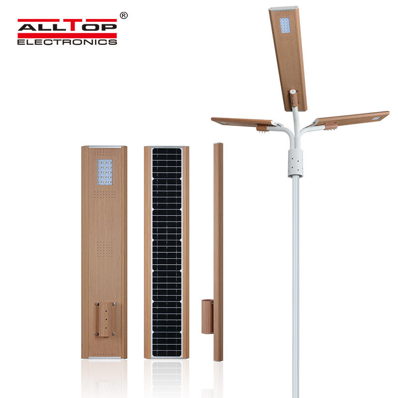 Intelligent human body induction waterproof solar street light