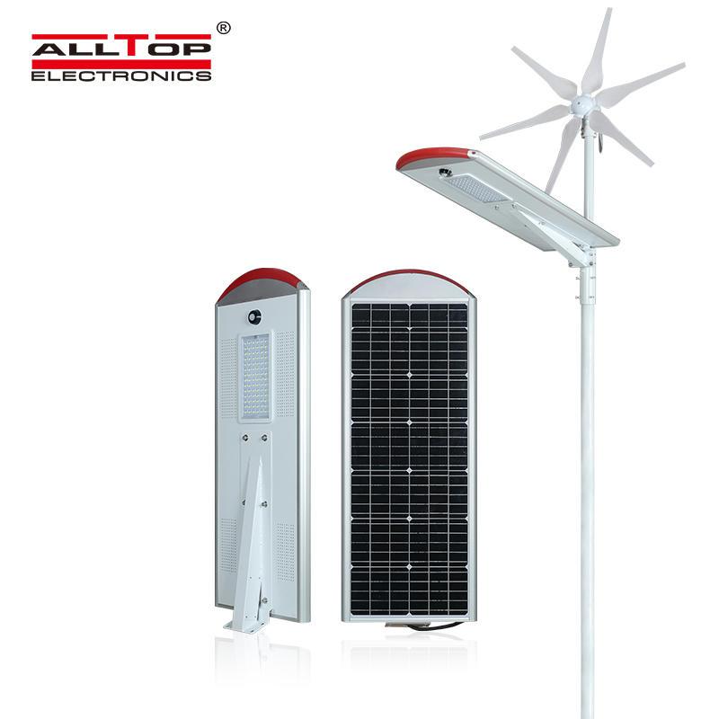 80W High Powerful Green Energy App Control Hybrid Wind Solar Street Light