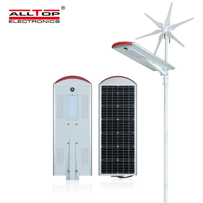 80W High Powerful Green Energy App Control Hybrid Wind Solar Street Light