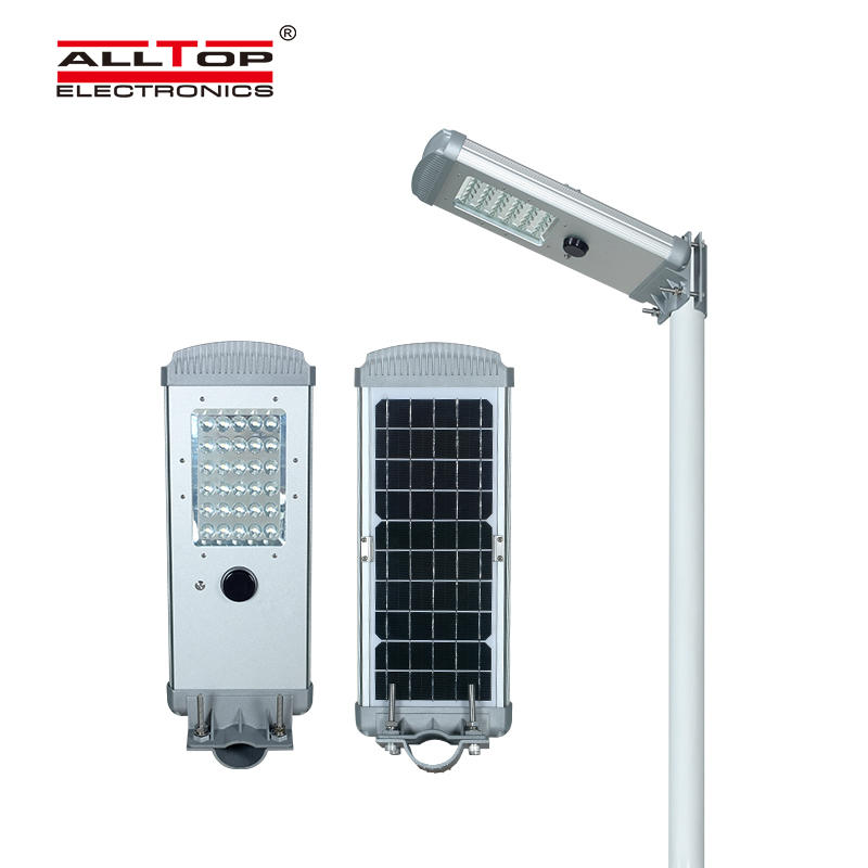Outdoor intelligent integrated solar street light
