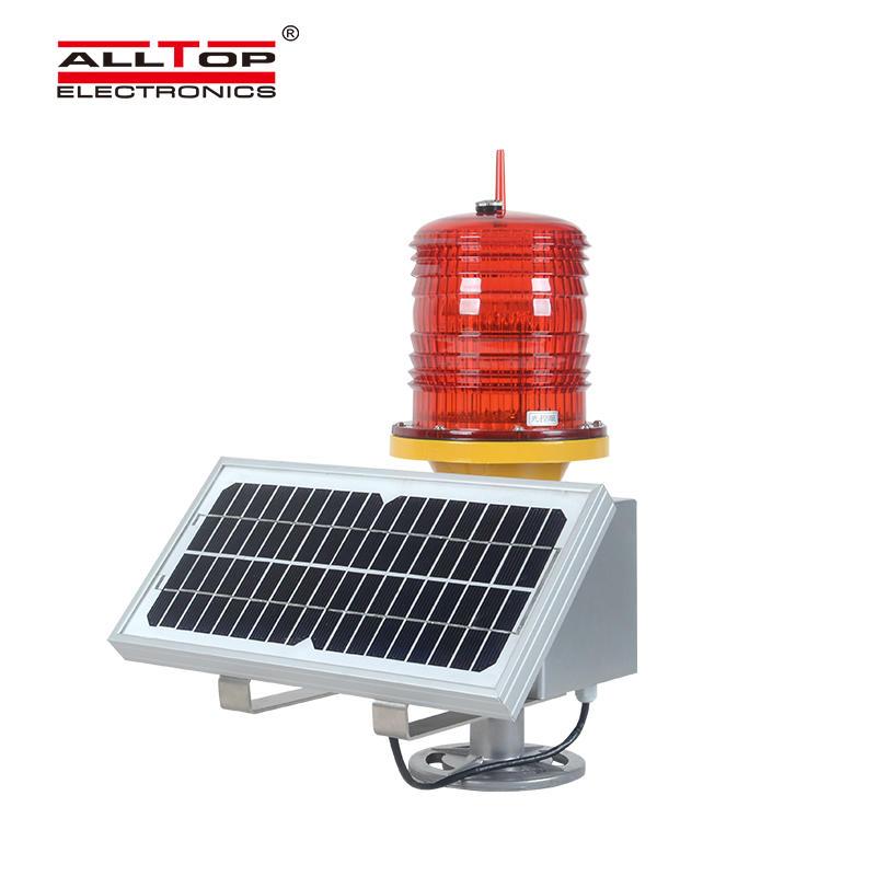 Solar Helipad Lighthouse Tower Crane High Intensity Aviation Obstacle Warning Light Navigation Ship Light