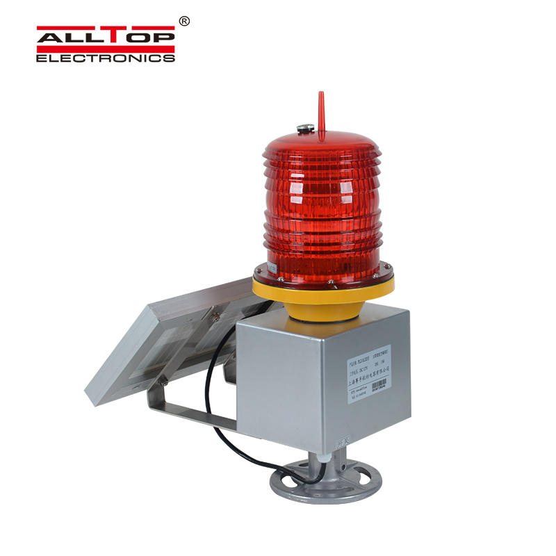 Solar Helipad Lighthouse Tower Crane High Intensity Aviation Obstacle Warning Light Navigation Ship Light