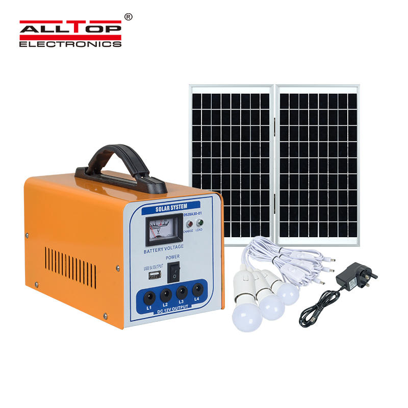 Small commercial solar power generation system