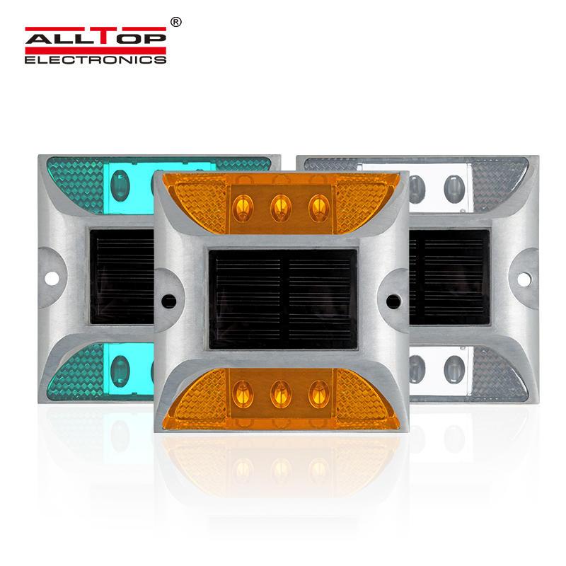 Aluminum high-brightness reflective LED flash road marking solar stud