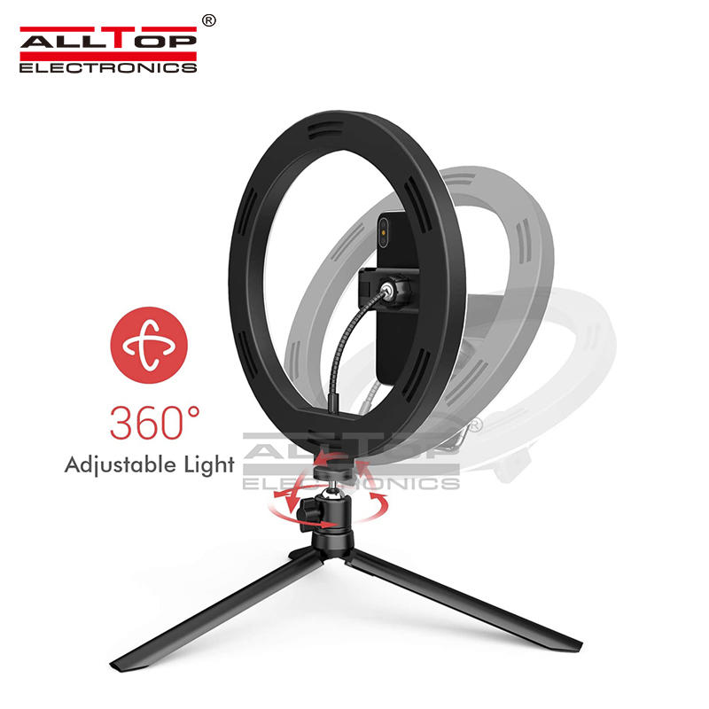High quality LED ring light fill light photography flash with tripod