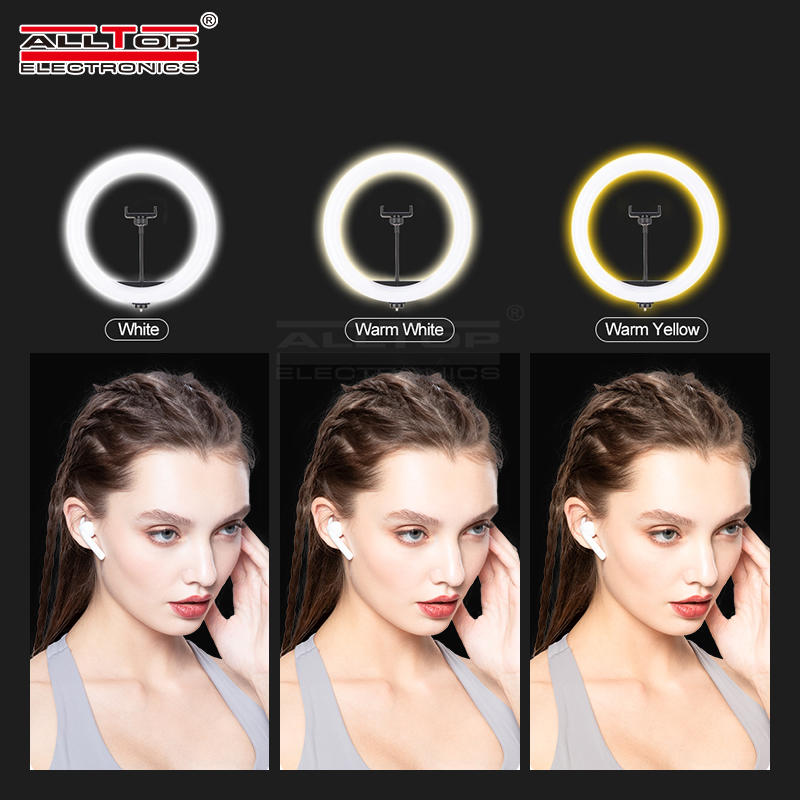 Best selling led ring live fill light with LED tripod and phone clip LED beauty selfie lamp