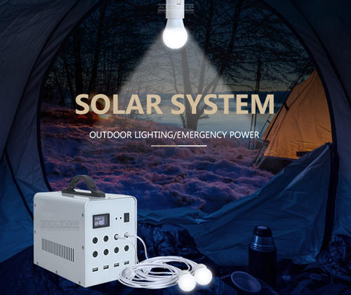 portable solar lighting system series for battery backup