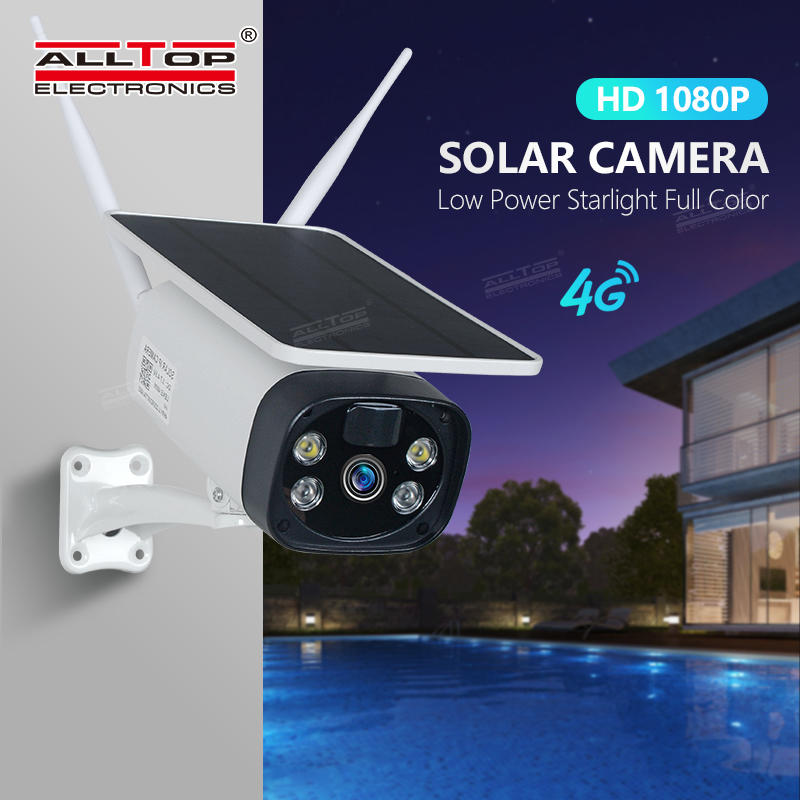 ALLTOP HD video wireless monitoring outdoor solar CCTV WIFI 4G alarm smart security PTZ camera